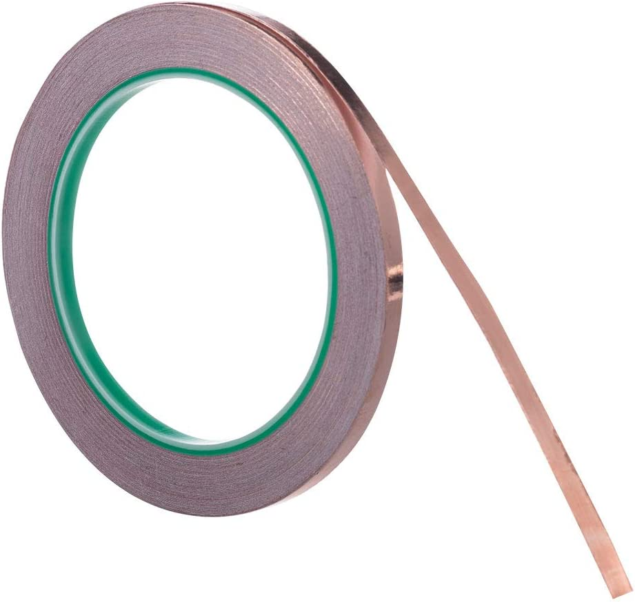 Electrical Repairs Slug Repellent Selizo 2 Pack Copper Foil Tape with Conductive Adhesive for EMI Shielding Grounding Paper Circuits