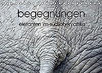 begegnungen - elefanten im suedlichen afrika (Tischkalender 2022 DIN A5 quer): elefantenbeobachtung (Monatskalender, 14 Seiten )
