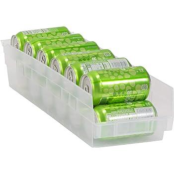 Akro-Mils 30138 Plastic Nesting Shelf Bin Box, (18-Inch x 6-1/2-Inch x 4-Inch), Clear, (12-Pack)