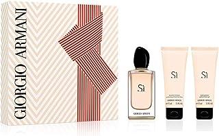 Giorgio Armani Armani Si for Women 3 Piece Set (100ml Eau de Parfume Spray / 75 Perfumed Body Lotion / 75 Perfumed Shower ...