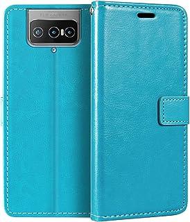 جراب محفظة Asus ZenFone 7 ZS670KS من الجلد الصناعي الفاخر مع حامل بطاقات ومسند لهاتف Asus ZenFone 7 Pro ZS671KS