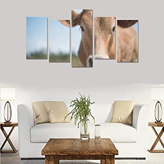 HYTCSY Black-and-White Dairy Cows (no Frame) Canvas Print Sets Wall Art Picture 5 Pieces Paintings Posters Prints Photo Image On Canvas Ready to Hang for Living Room Bedroom Home Office Wall Decor