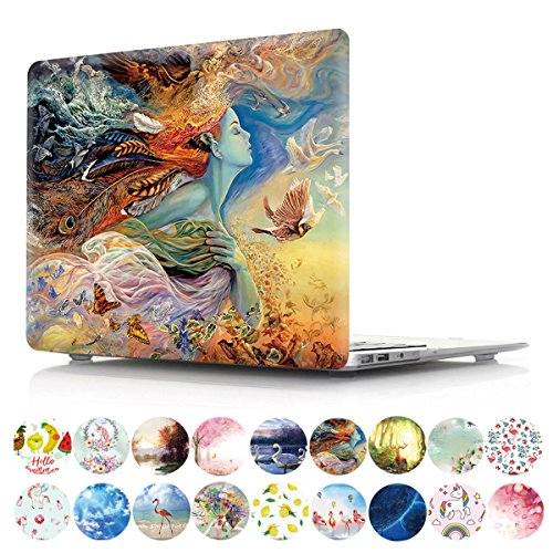 """PapyHall Painting Plastic Pattern Hard Case for Old MacBook Pro 15"""" with CD-ROM (2010-2012 Release, Non-Retina) Model: A1286, DZ-Daughter of The Sea"""