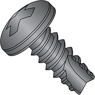 Pack of 100 #4-24 Thread Size 1//2 Length Phillips Drive Type 25 Zinc Plated Finish Pan Head Steel Thread Cutting Screw