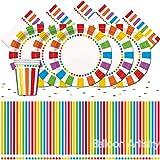 "Unique Party bpwfa-103""arcobaleno set da tavola per 16"