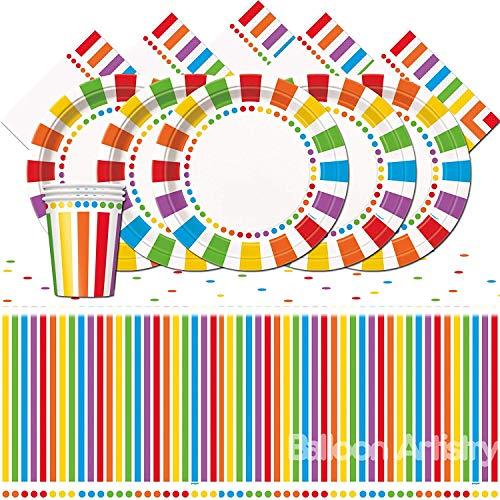 Unique Party bpwfa-103Rainbow Tisch Set für 16