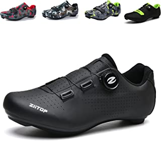 Mens Cycling Shoes,Road Bike Cycling Shoes for Men, Breathable Non-Slip Road and Mountain Bike Shoes,Bike Shoes with SPD...