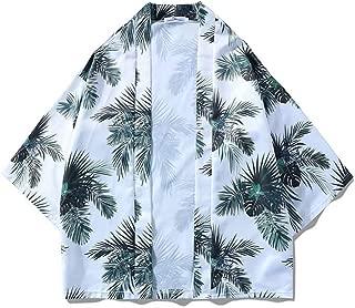 Qiyun Autumn Shirt Men Women 3/4 Sleeve Shirt Loose Lovers Kimono Chinese Style Outerwear