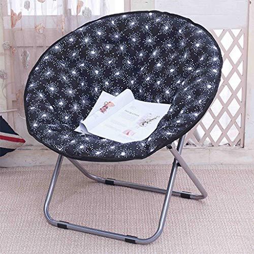 Chaise de lune pliante, bureau de salon de chaise paresseux se pliant décontractée portant forte (Couleur : A)