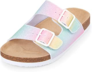 ad1d3b9ae00d The Children s Place Kids  Rainbow Double Buckle Luna Sandal Flat
