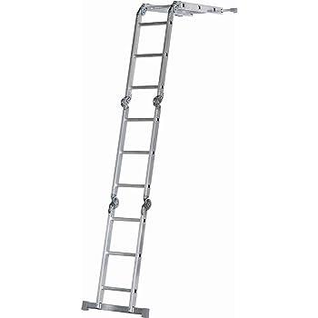 Abru - Escalera multifunción (10 en 1): Amazon.es: Bricolaje y herramientas