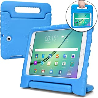 Cooper Dynamo [Rugged Kids Case] Protective Case for Samsung Tab S2 9.7 | Child Proof Cover Stand, Handle | T810 T811 T813 T815 T817 T819 (Blue)