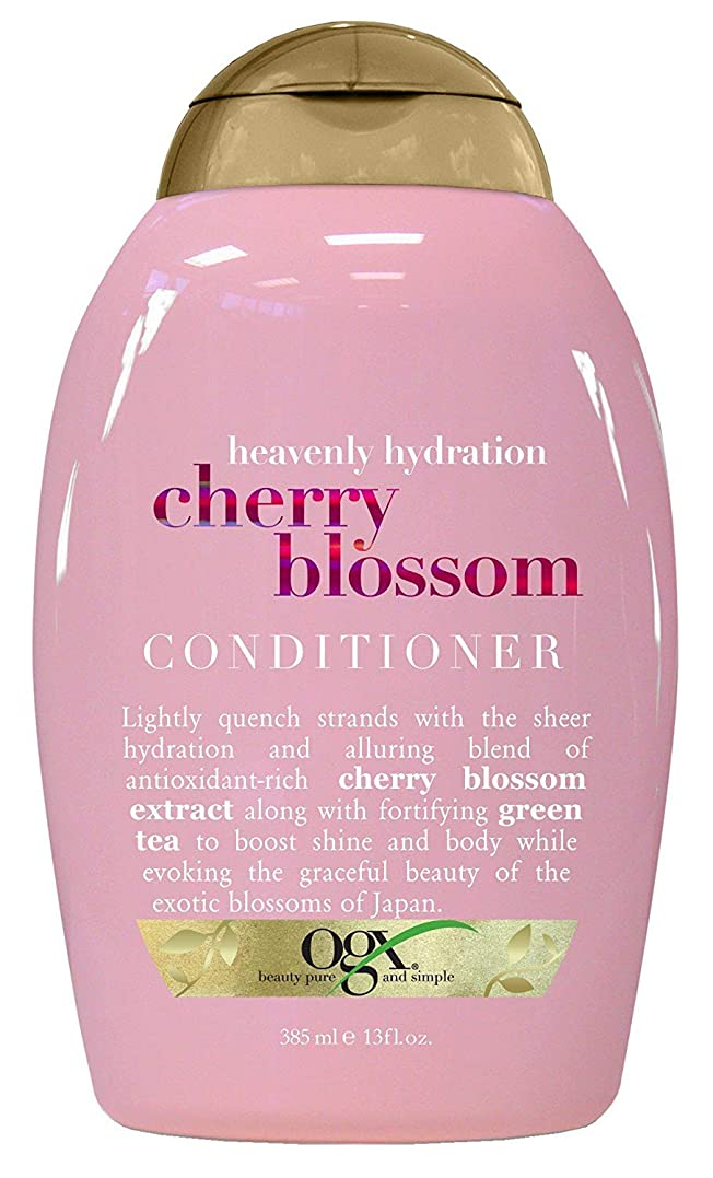 からかう一般祖先OGX Heavenly Hydration Cherry Blossom Conditioner 13oz 360ml チェリーブロッサム コンディショナー [並行輸入品]