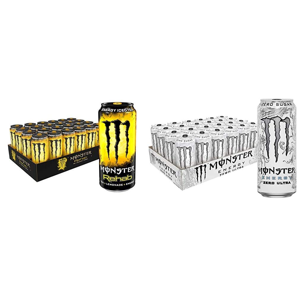 Monster 4 years warranty Rehab Tea + Indefinitely Lemonade Iced Oun Energy 15.5