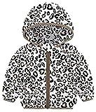 Little Girls Leopard Winter Coats Thick Hooded Down Alternative Coats Winter Warm Zipper Coat Outwear Snowsuit for Cold Weather 6-12 Month