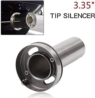 RYANSTAR Exhaust Muffler Adjustable Round Removable Silencer 3.35