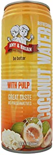 Amy & Brian Coconut Water with Pulp, 17.5 Ounce Can (Pack of 12)