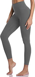 V17ee Women's High Waisted Yoga Pants 7/8 Length Workout Leggings with Pockets