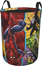Spiderman Sac de rangement rond pour vêtements sales, étanche et résistant à la poussière, pliable, panier de rangement po...