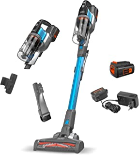 Black+Decker 4-in-1 Cordless Powerseries Extreme Stick Vacuum Cleaner, 36V, 1.5 Ah, Blue - BDPSE3615-QW, 2 Years Warranty