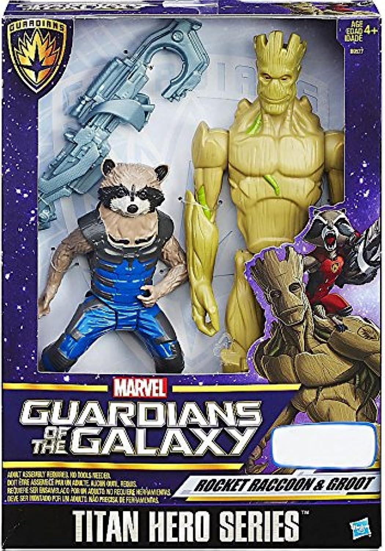 Marvel Guardians of the Galaxy Titan Hero 2 Pack Rocket Raccoon and Groot Exclusive Figure Set