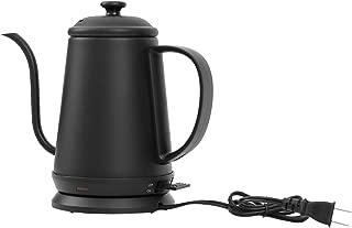 モダンデコ 電気ケトル 湯沸かしポット 1L スリムノズル おしゃれ (ブラック)
