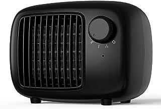 SHINEZONE - Calefactor de cerámica con dos niveles de potencia, calefactor de aire eléctrico portátil, calefacción eléctri...