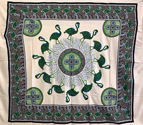 Seamar Toalla cubretodo Grande flamencos 100% algodón Indio Estampado 220 x 240 cm