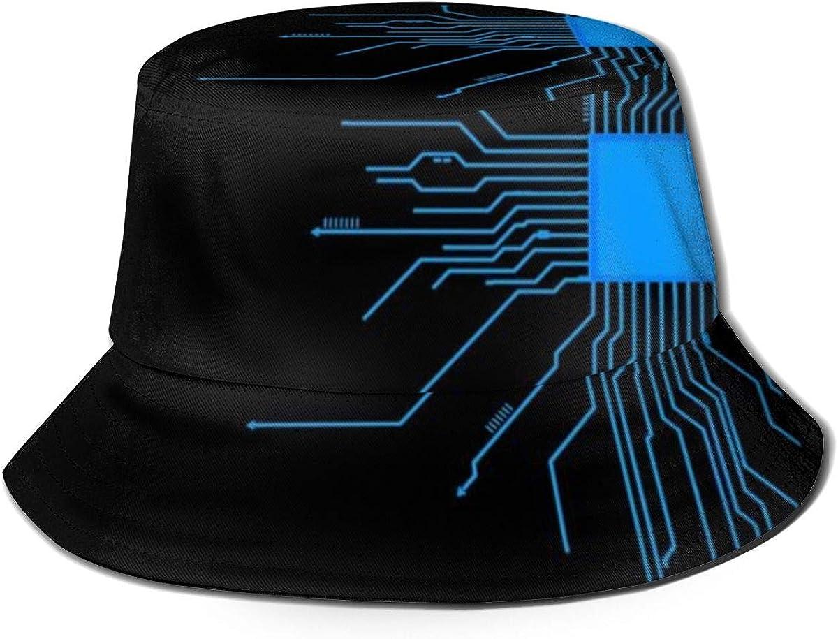 Summer Bucket Sun Hat Programmer Core Nerd Computer Surprise price Fish Printed Charlotte Mall