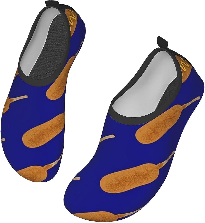 NAHOMER Barefoot Shoes Mens Womens Corn Dog Aqua Socks Quick-Dry Beach Shoes for Dive Surf Swim Yoga