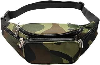 Fanny Packs Zipper Pockets Black Fanny Packs Belt Bag Men Waist Bag Travel Chest Bum Bag Women Waist Packs Money Phone Pochete Feminina