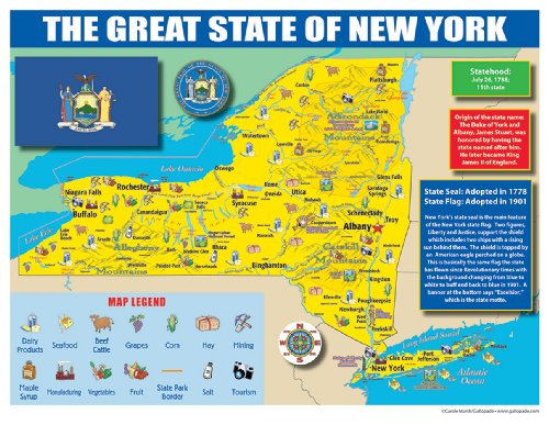 Gallopade Publishing Group New York State Map for Students - Pack of 30 (9780635106599)
