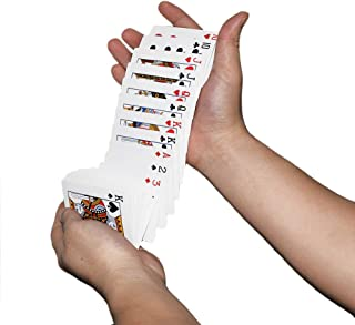 OUERMAMA Magic Electric Deck Cards Prank Trick Gag Poker Acrobatics Waterfall Card Props Close-up Stage Poker Magic Props