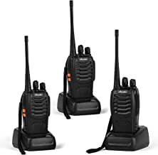 Ansoko Walkie Talkies Rechargeable Long Range Two Way Radios 16-Channel with Earpiece Battery n Charger (3 Pack)