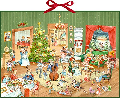 Wand-Adventskalender - Wimmelige Weihnachtsfeier