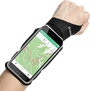 LENTION iPhone XS/Max/XR/X/8P/7P/6s P/6 P, Samsung S9/S8/Plus Touch Screen Forearm Band, Wristband, Running Armband with Key ID Cash Holder for Cycling, Jogging, Sports