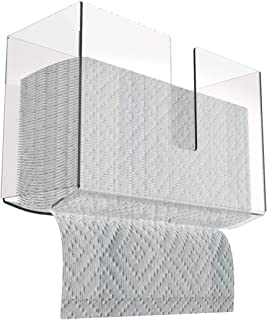 Wall Mount Paper Towel Dispenser for Z-fold, C-fold, or Multi-fold Paper Towels,Acrylic Paper Towel Holder for Bathroom and Kitchen,Pack of 1 by Cq acrylic
