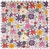 Farbdruck Möbelstoff Blumen Lila/Violett/Rot