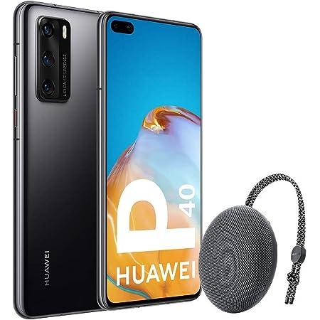 "Huawei P40 5G - Smartphone de 6,1"" OLED (8GB RAM + 128GB ROM, 3x Cámaras Leica (50+16+8MP), chip Kirin 990 5G, 3800 mAh, EMUI 10 HMS) Negro + altavoz CM51 [Versión ES/PT]"