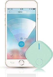 Sdbyn Mini GPS Tracker Finder Key Anti Lost Alarm Bluetooth Locator Wallet for Dogs, Kids, Cats, Luggage, Wallet,Blue photo