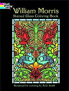 William Morris Stained Glass Coloring Book (Dover Design Stained Glass Coloring Book)