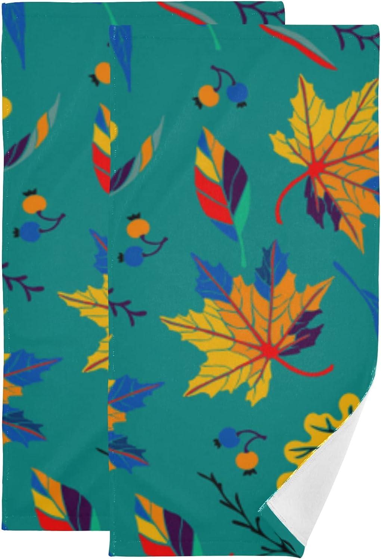 Set of Detroit Mall 2 Limited price sale Bath Towel Leaf Quick-Dr Maple Color Romantic
