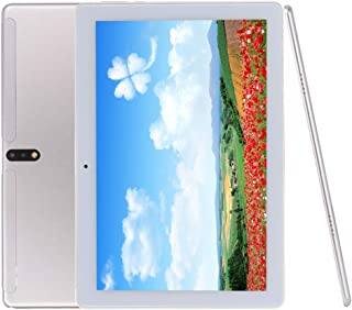 Android Tablet 10 Inch, Android 9.0 Unlocked Tablet PC with SIM Card Slots, 4G Phone Support, Deca-Core, 2.8GHz, 64GB, 5MP+13MP Dual Camera, WiFi, GPS (Silver)