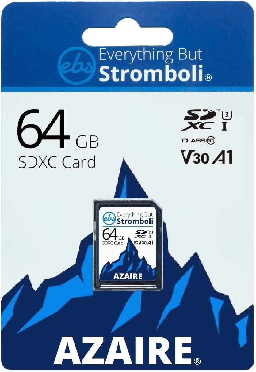 Everything But Stromboli 64GB SD Card Class 10 UHS-1 U3 Speed C10 V30 64G SDXC Memory Card Storage for Compatible Camera, Computer, Video Camcorder