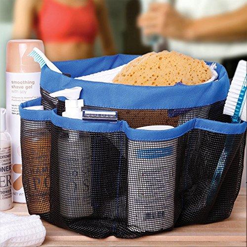 YjDyJJ Portátil Mesh 8 Pocket Shower Caddy Oxford Cloth Storage Box El más Nuevo Multifuncional Bath Caddy, Hand Bath Organizer