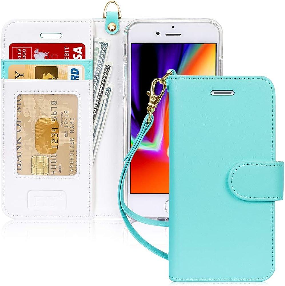 Fyy custodia per iphone 7/8/se 2020 portafoglio in pelle sintetica FYY-IT-H-326-iPhone-7-MG