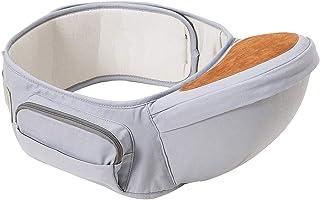 Wemk Hipseat Bärsele 0-36 månader, ergonomisk lätt justerbar midjepall sits för baby toddle (grå)