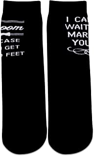 2PAIRS To My Groom Wedding Day Gift In Case You Get Cold Feet Novelty Socks for Groom