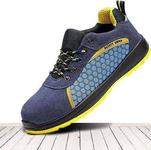 Bottes de travail Chaussures de travail, chaussures de travail, légères et confortables, en daim, chaussures de sport, chaussures de plein air antidérapantes. Chaussures de sécurité au travail. Embout
