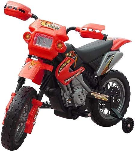 HomeMiYN Moto électrique pour Enfants 102 x 53 x 66cm Rouge